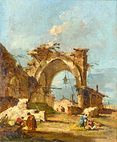 Francesco Guardi: A Caprice with a Ruined Arch