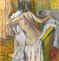 Edgar Degas: After the Bath, Woman drying herself (2)