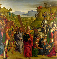 Boccaccio Boccaccino: Christ carrying the Cross and the Virgin Mary Swooning