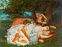 Gustave Courbet: Young Ladies on the Bank of the Seine