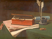 Франсуа Бонвен: Still Life with Book, Papers and Inkwell