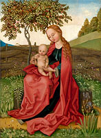 Unknown Painter: The Virgin and Child in a Garden