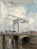 Jacob Maris: A Drawbridge in a Dutch Town