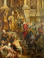 Peter Paul Rubens: Saint Bavo is received by Saints Amand and Floribert