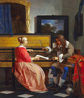 Gabriël Metsu: A Man and a Woman seated by a Virginal