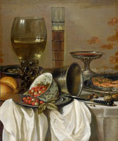 Pieter Claesz.: Still Life with Drinking Vessels