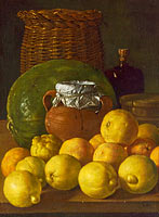 Луис Эджидио Мелендес: Still Life with Lemons and Oranges