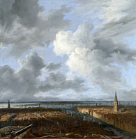 Якоб Исаакс ван Рёйсдал: A Panoramic View of Amsterdam looking towards the IJ