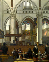 Emanuel de Witte: The Interior of the Oude Kerk, Amsterdam (1)