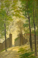 Stanislas Victor Edouard Lépine: A Gateway behind Trees