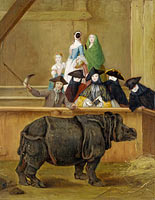 Pietro Longhi: Exhibition of a Rhinoceros at Venice