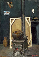 Paul Cézanne: The Stove in the Studio