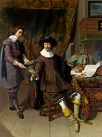 Thomas de Keyser: Portrait of Constantijn Huygens and his (?) Clerk