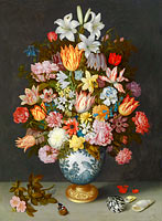 Ambrosius Bosschaert the Elder: A Still Life of Flowers in a Wan-Li Vase