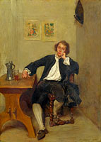 Jean-Louis-Ernest Meissonier: A Man in Black smoking a Pipe