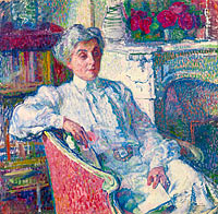Maria van Rysselberghe by the Fire-Place