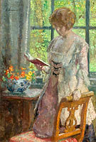 Gari Melchers: Young Woman Reading
