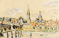 Paul Signac: The Charite Hospital on the Loire River