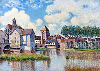 Alfred Sisley: Moret-sur-Loing