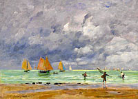 Fishers and Boats near Trouville