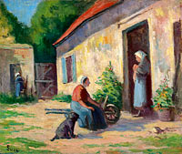 Maximilien Luce: The Yard at Rolleboise