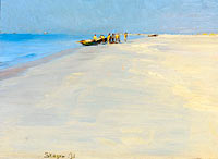 Fishermen on the Beach at Skagen