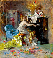 Giovanni Boldini: Woman by the Piano