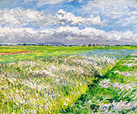 Gustave Caillebotte: The Plain of Gennevilliers, Etude in Yellow and Green