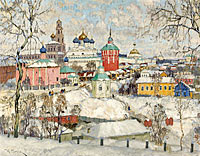 Константин Горбатов: View of Troitse-Sergiyeva Lavra