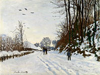 the Road to the Farm Saint-Simeon in Winter
