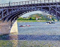 Gustave Caillebotte: The Argenteuil Bridge on the Seine
