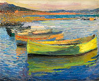 Henri Martin: Tha Boats at the Outskirts of Collioure