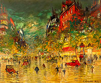 Konstantin Korovin: Paris by Night 02
