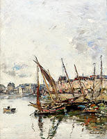 Eugène Louis Boudin: The Port of Trouvill, Marine Basin