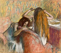 Edgar Degas: Woman Combing Her Hair (2)