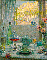 Henri Le Sidaner: Table near the Window, Reflections