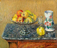 Гюстав Луазо: Fruit Bowl with Apples and a Jug