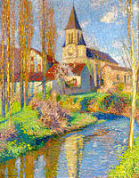Henri Martin: School and Church at Labistede-Du-Vert