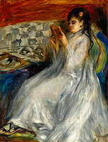 Pierre-Auguste Renoir: Young Woman in White Reading