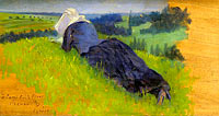 Peasant Woman Lying on the Grass