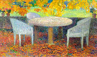 Henri Martin: Big Stoned Table under the Chestnut-Trees of Marquayrol