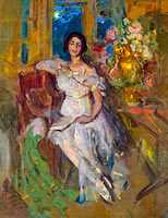 Konstantin Korovin: Portrait of a Seated Lady