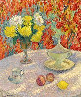 Henri Martin: Dahlias at the Sunlight