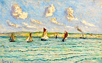 Maximilien Luce: Honfleur, Sailers and Tug-Boats