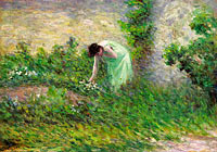 Maximilien Luce: Gisors, Woman Picking Flowers
