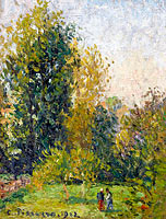 Landscape with Two Figures in Autumn, Eragny