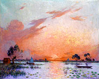 Ferdinand du Puigaudeau: Sunset in Briere