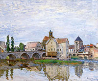 Альфред Сислей: Moret-sur-Loing, Grey Weather