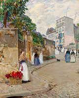 Frederick Childe Hassam: The Street of Montmartre, Paris