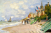 Claude Monet: The Sandbeach at Trouville